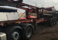 1998 Crane Fruehauf<br>Fixed chassis tri axle skelly